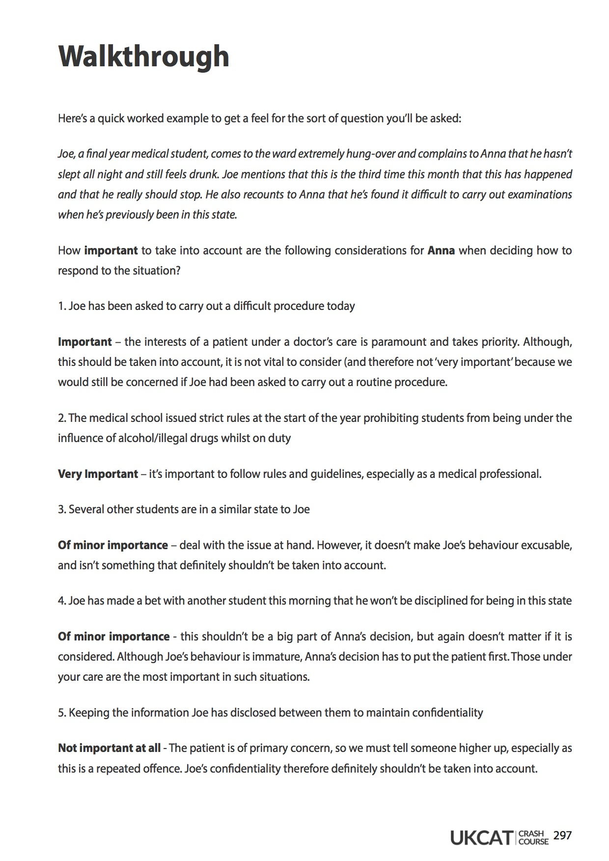 6med UCAT Crash Course Workbook - Situational Judgment