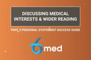 Discussing medical interests and wider reading in your medical personal statement